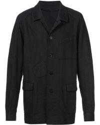 Undercover Denim overcoat - Schwarz