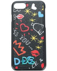 Dolce & Gabbana GRAFFITI PRINTED LEATHER IPHONE 7 COVER ydHQdY