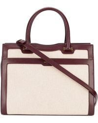 Saint Laurent - Uptown Medium Canvas And Leather Bag - Lyst