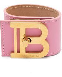 Balmain Браслет С Логотипом - Розовый