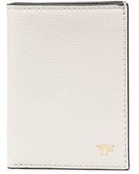 Tom Ford Складной Картхолдер С Логотипом - Белый
