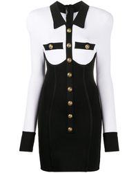 Balmain - ボタン ドレス - Lyst