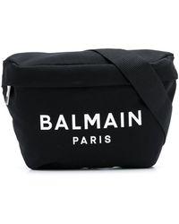 Balmain ロゴ ベルトバッグ - ブラック