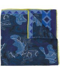 Etro Schal mit Print - Blau