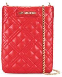 Love Moschino Стеганый Чехол Для Телефона С Цепочкой - Красный