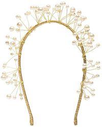 Jennifer Behr Cerchietto Primavera con perle - Giallo