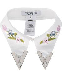 Vivetta - Viareggio Embroidered Collar - Lyst