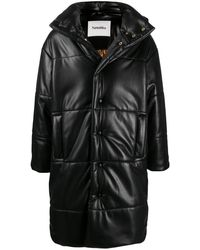 Nanushka パデッドコート - ブラック
