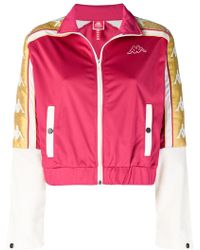 Kappa - Banda Cropped Sports Jacket - Lyst