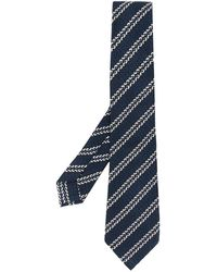Ermenegildo Zegna Cravatta con ricamo - Blu