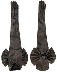 Manokhi Bow-detail Extra-long Gloves - Black