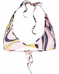 Emilio Pucci Ondeプリント ビキニトップ - ピンク