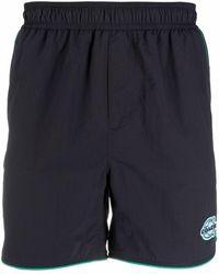 COACH Logo-patch Track Shorts - Blue