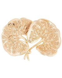 Dior Broche Met Blad - Metallic