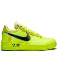 NIKE X OFF-WHITE The 10: Air Force 1 Low 'off-white Volt' Shoes - Yellow