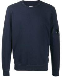 C P Company Sweatshirt mit aufgesetzter Tasche - Blau