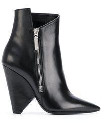 Saint Laurent - Geometric Heeled Boots - Lyst