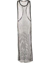 Alexandre Vauthier ビジュー メッシュ ドレス - ブラック