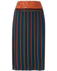 Tory Burch Плиссированная Юбка - Многоцветный