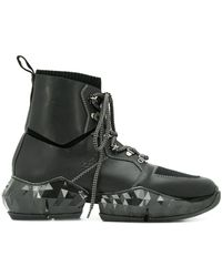 Jimmy Choo Bottines Diamond Spaceboots - Noir