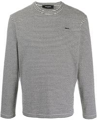 DSquared² ストライプ ロングtシャツ - ブラック