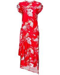 Paco Rabanne ハワイアンプリント ドレス - レッド