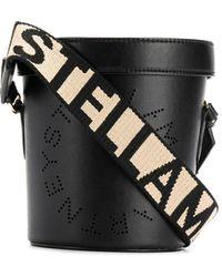 Stella McCartney ロゴ バケットバッグ - ブラック