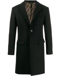Fendi Ffライニングコート - ブラック