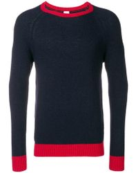 Eleventy - Colour Block Jumper - Lyst