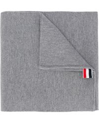 Thom Browne Шарф Milano С Полосками - Серый