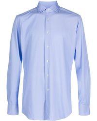 Xacus Gemustertes Hemd - Blau