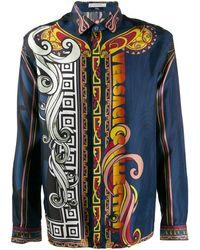 Versace Chemise à motifs Fantasia - Bleu
