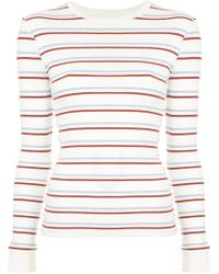 FRAME - Striped Longsleeved T-shirt - Lyst