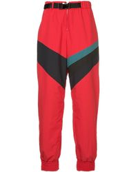 Facetasm Contrast Stripe Track Pants - レッド