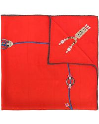 Cartier Fular estampado - Rojo