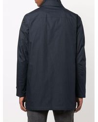 Fay Concealed Parka Coat - Blue