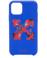 Off-White c/o Virgil Abloh Corals プリント Iphone 11 ケース - ブルー