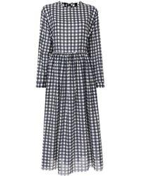 Sara Lanzi チェック ドレス - ブルー