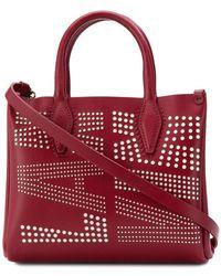 Lanvin - Nano Logo Crossbody Bag - Lyst