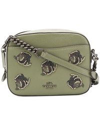 applique detail camera bag - Green Coach SRE7NX