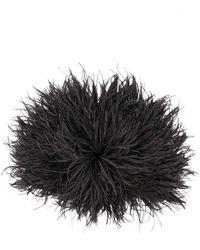 N°21 Ostrich Feather Beanie - ブラック