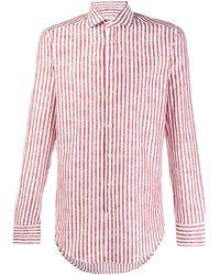 Etro - Полосатая Рубашка С Длинными Рукавами - Lyst