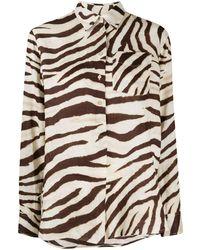 Lauren by Ralph Lauren Long Sleeve Zebra Print Shirt - Multicolour