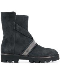 Fabiana Filippi - Bead Embellished Mid-calf Boots - Lyst