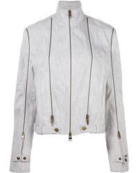 JW Anderson Zip Detail Denim Jacket - White