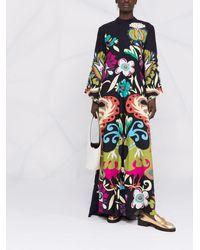 La DoubleJ Платье Макси Magnifico С Цветочным Принтом - Черный