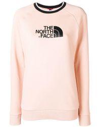 The North Face - Logo Print Sweatshirt - Lyst
