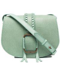 Ba&sh Lizard-skin Effect Crossbody Bag - Green