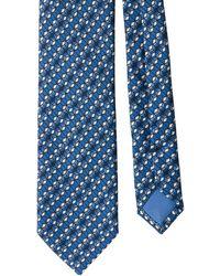 Prada Geometric Pattern Tie - Blue