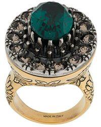 Alexander McQueen - Gem Embellished Ring - Lyst